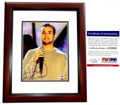 Howie Dorough Signed - Autographed Backstreet Boys 8x10 inch Photo with PSA/DNA Certificate of Authenticity (COA) MAHOGANY CUSTOM FRAME - Howie D