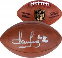 "Howie Long Oakland Raiders Autographed Football with ""HOF 00"" Inscription - Mounted Memories"