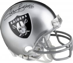 Howie Long Oakland Raiders Autographed Riddell Mini Helmet with HOF 00 Inscription - Mounted Memories
