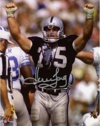 "Howie Long Oakland Raiders Autographed 8"" x 10"" Arms In Air Photograph"
