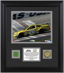 Matt Kenseth 2013 Kobalt Tools 400 Framed 8'' x 10'' Photo with Gold Coin & Race-Used Flag - Mounted Memories