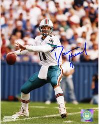 """Damon Huard Miami Dolphins Autographed 8"""" x 10"""" Throwing Photograph"""