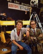 "Huey Lewis Autographed 8"" x 10"" Back To The Future: Sitting With Michael J Fox Photograph - Beckett"