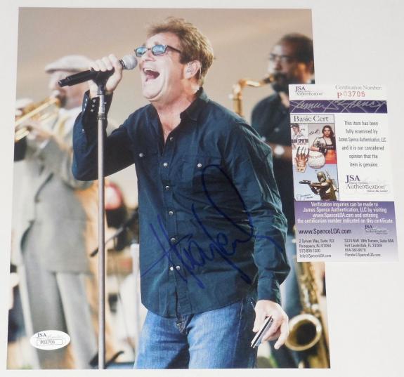 Huey Lewis Autographed 8x10 Color Photo (and The News) - Jsa Coa!