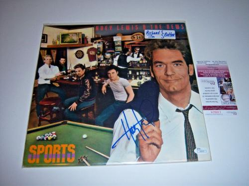 Huey Lewis Huey Lewis And The News Sports Jsa/coa Signed Lp Record Album