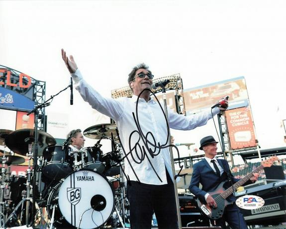 Huey Lewis signed 8x10 photo PSA/DNA Autographed Singer