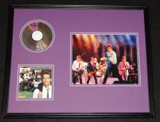Huey Lewis Signed Framed 16x20 Photo & Sports CD Display