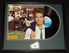 Huey Lewis Signed Framed 1983 Sports Record Album Display