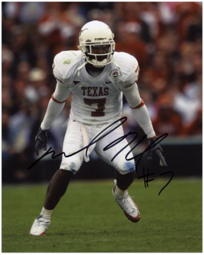 Michael Huff Texas Longhorns ''Stance'' Autographed 8'' x 10'' Photograph - Mounted Memories