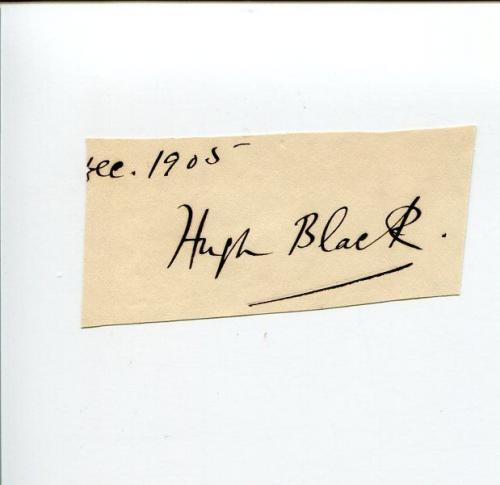 Hugh Black Scottish Theologian Author Clergy Religious Signed Autograph