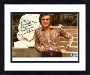 "Hugh Hefner ""Best Wishes"" Signed 8x10 Photo Autographed BAS #A10785"