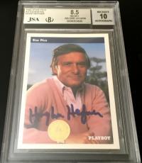 Hugh Hefner certified autograph signed auto PLAYBOY 1992 Star Pics BGS 8.5 JSA