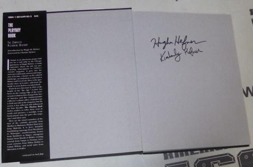 Hugh Hefner & Kimberley Conrad Signed The Playboy Book 40 Forty Years PSA/DNA