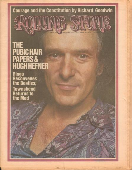 Hugh Hefner Playboy December 20 1973 Rolling Stone Magazine Issue #150 Edition