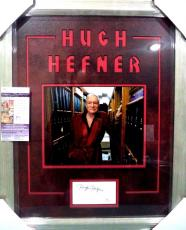 Hugh Hefner Playboy Legend Jsa Coa Signed Autograph Double Matted Framed 8x10 F
