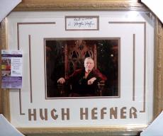 Hugh Hefner Playboy Legend Signed Autographed Double Matted & Framed Jsa Coa J