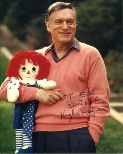 Hugh Hefner Playboy Magazine Founder Rare Signed Autograph Photo COA