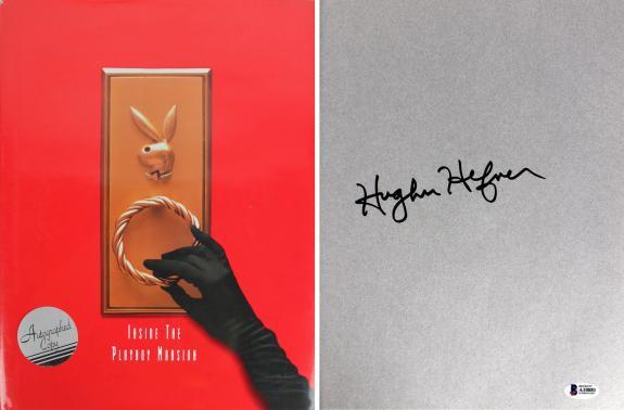 Hugh Hefner Playboy Signed Inside The Playboy Mansion Hardcover Book BAS #A10881
