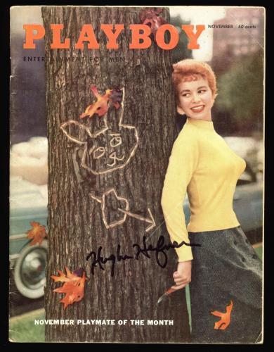 Hugh Hefner Playboy Signed November 1955 Playboy Magazine BAS #A10810