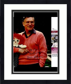 Hugh Hefner Signed 8x10 Photo JSA