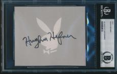 Hugh Hefner Signed Autograph Cut Playboy Bas Certified Authentic #0009864012