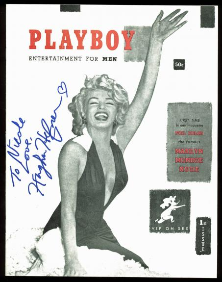 Hugh Hefner Signed Issue #1 Reprint Playboy Magazine Auto Graded 10! BAS #A10808