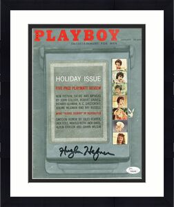 Hugh Hefner Signed January 1960 Playboy Magazine Autographed JSA #Y95446