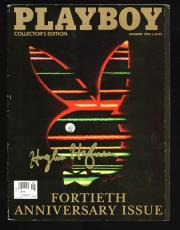 Hugh Hefner Signed January 1994 Playboy Fortieth Anniversary Issue JSA #Y01751