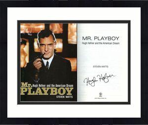 Hugh Hefner SIGNED Mr. Playboy  HC 1st Ed 1st Print + LETTER PSA/DNA AUTOGRAPHED