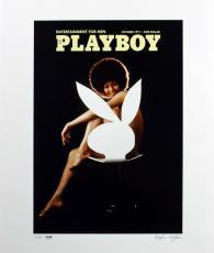 Hugh Hefner Signed Oct 1971 Playboy 20x24 Ultrachrome Print 2/100 PSA #AB10751