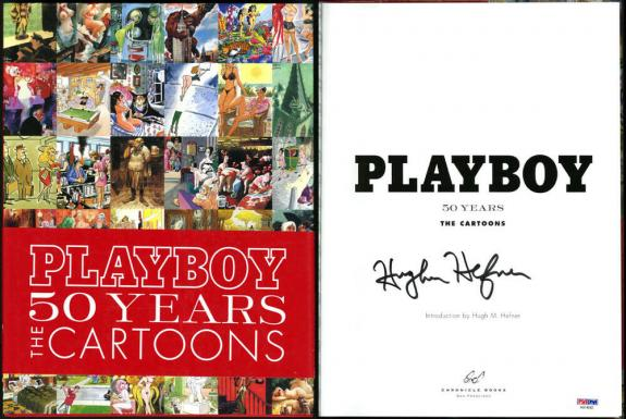 Hugh Hefner SIGNED Playboy 50 Years  HC 1st Ed + FULL LETTER PSA/DNA AUTOGRAPHED