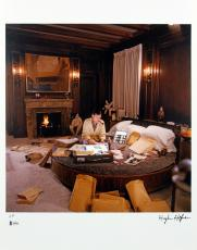Hugh Hefner Signed Playboy Artist Print 16x20 Photo BAS #A05018