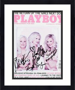 Hugh Hefner Signed Playboy Magazine & The Girls Next Door – COA JSA