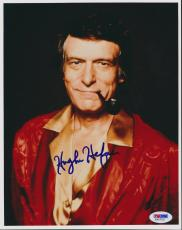 Hugh Hefner Vintage Signed 8x10 Photo Psa/dna #f90753 Vintage Playboy