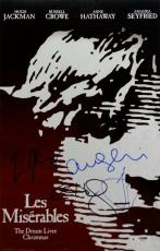 HUGH JACKMAN Anne Hathaway AMANDA SEYFRIED Signed 11x17 Les Miserables Photo PSA