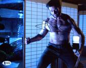 """Hugh Jackman Autographed 8"""" x 10"""" The Wolverine Ready to Fight Photograph - Beckett COA"""