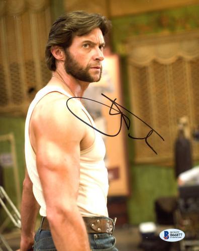 "Hugh Jackman Autographed 8"" x 10"" Xmen Wolverine Tank Top & Blue Jeans Photograph - Beckett COA"