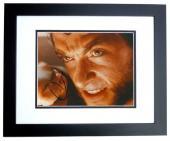 Hugh Jackman Signed - Autographed X-MEN WOLVERINE 8x10 inch Photo BLACK CUSTOM FRAME - Guaranteed to pass PSA or JSA