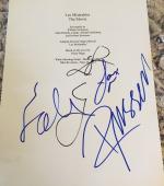 """Hugh Jackman Crowe Cast Signed Autograph """"les Miserables"""" Movie Script Coa +5"""