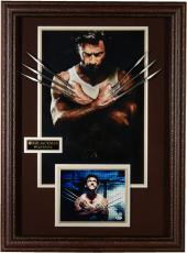 "Hugh Jackman Framed Autographed 38"" x 28"" x 2"" Wolverine Display - BAS"