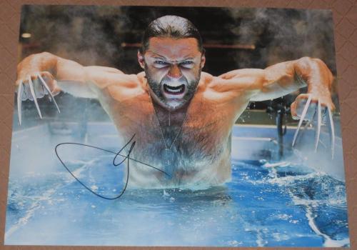 Hugh Jackman Signed 11x14 Photo Autograph X-men Les Miserable Video Proof Coa A