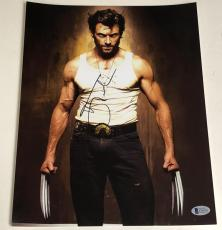 Hugh Jackman Signed 11x14 Photo Autograph X-men Wolverine Logan Bas Coa A