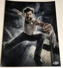 Hugh Jackman Signed 11x14 Photo Autograph X-men Wolverine Logan Bas Coa D