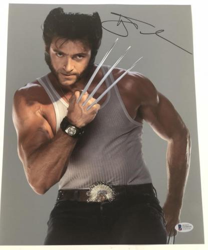 Hugh Jackman Signed 11x14 Photo Autograph X-men Wolverine Logan Bas Coa G