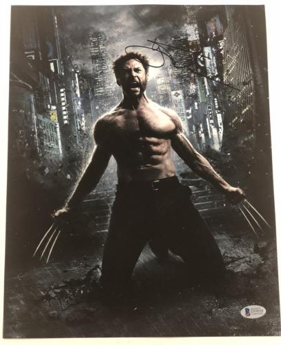 Hugh Jackman Signed 11x14 Photo Autograph X-men Wolverine Logan Bas Coa H
