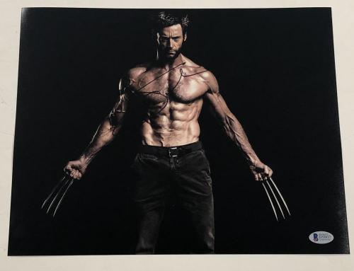 Hugh Jackman Signed 11x14 Photo Autograph X-men Wolverine Logan Bas Coa I