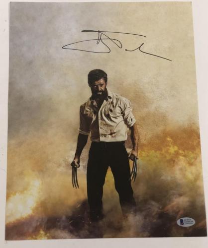 Hugh Jackman Signed 11x14 Photo Autograph X-men Wolverine Logan Bas Coa L