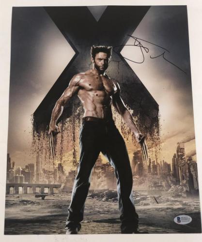 Hugh Jackman Signed 11x14 Photo Autograph X-men Wolverine Logan Bas Coa M