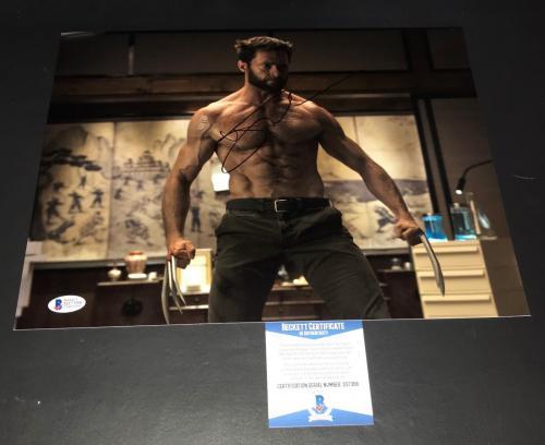 Shirtless Hugh Jackman Signed Auto Wolverine 11x14 Photo Bas Beckett Coa 3
