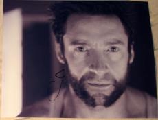 "Hugh Jackman Signed Autograph ""the Wolverine"" Rare Close Up Set Face 8x10 Photo"